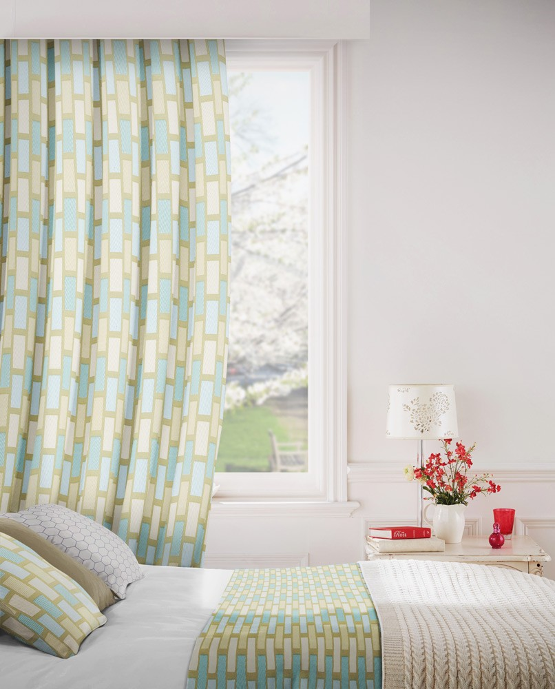 Plaza 158 Duck Egg Cream Fire Resistant Curtains