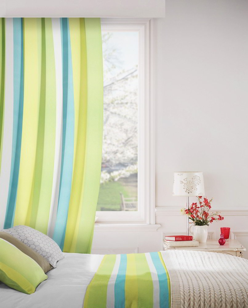 Sierra 171 Turquoise Lime Fire Resistant Curtains