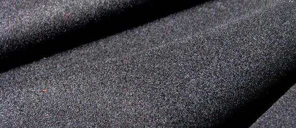 Black Wool Serge Curtain Fabric Flame Retardant Direct