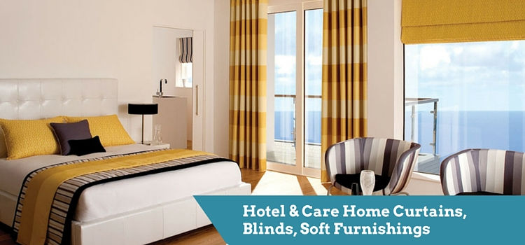 Hotel & Care Home Flame Retardant Curtains