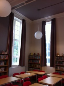 fully fitted library curtains