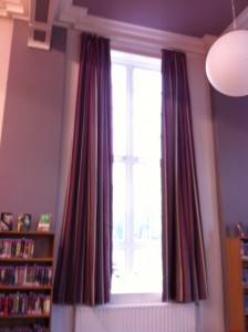 Long Library curtains