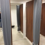 Eyelet Grey Changing Room Curtains