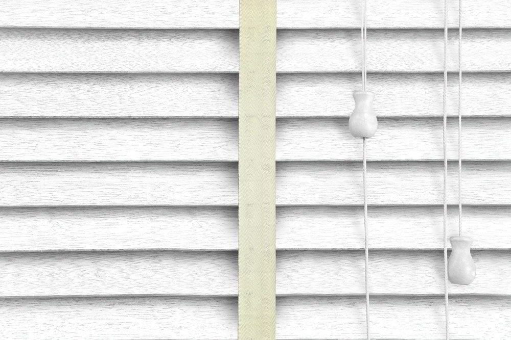 Venetian Blinds Wood White Embossed Chiffon Ladder Tape