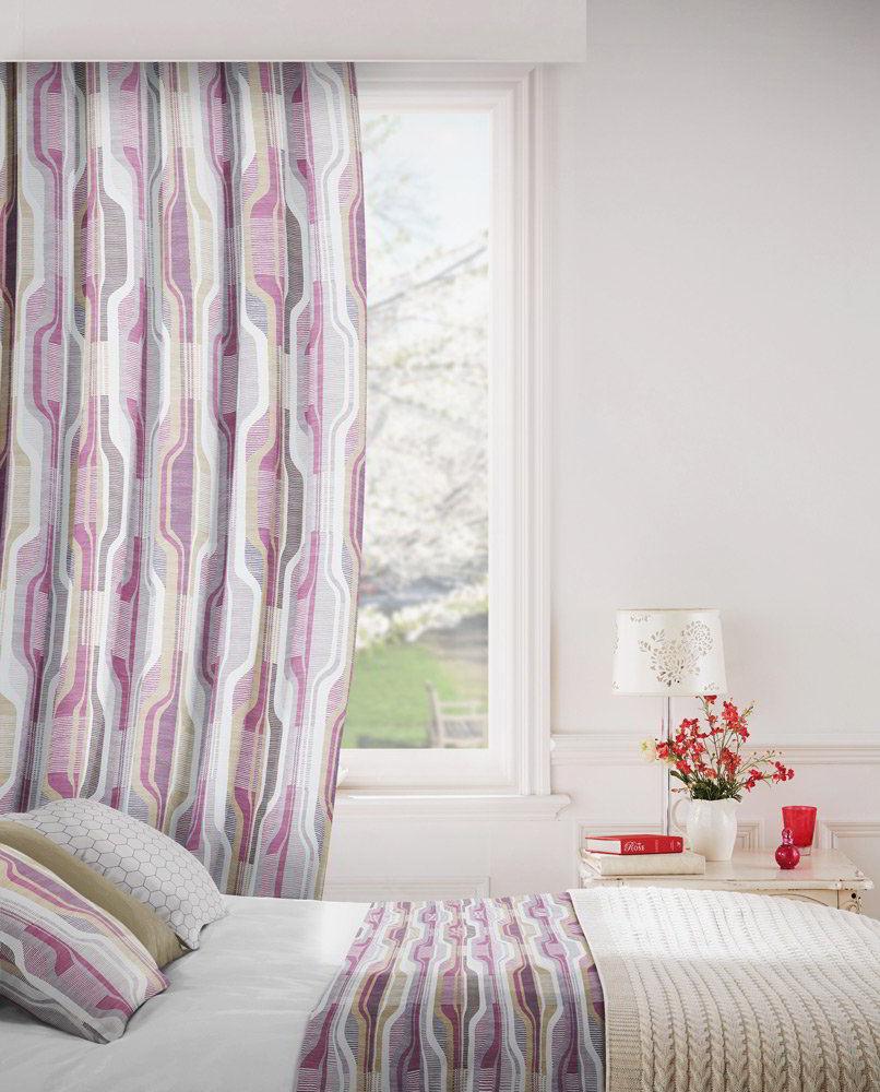 Balance 465 Raspberry Fig Fire Resistant Curtains Direct