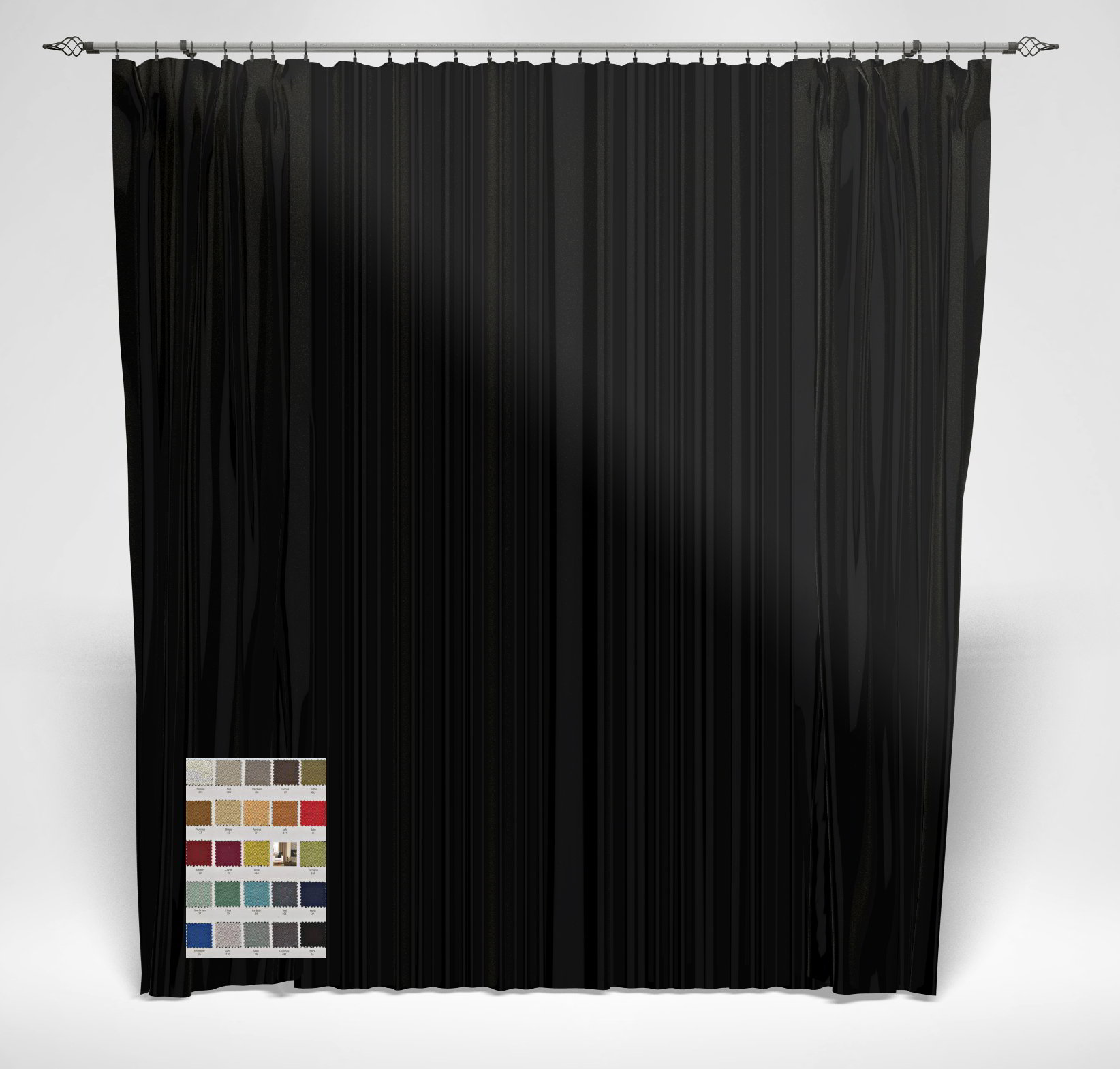 Black and white stage curtain - Accolade Stage Backdrop 26 Colours