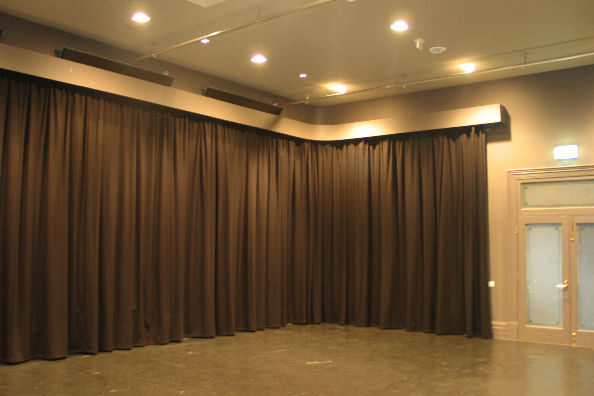 Black Wool Serge Flame Retardant Stage Curtains Direct Fabrics