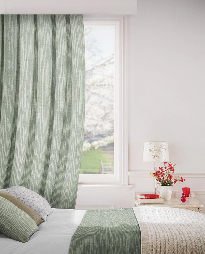 Breeze 233 Pistachio Fire Resistant Curtains Direct Fabrics