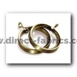 28mm Lined Rings Pk8 Antique Brass