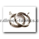 35mm Lined Rings Pk8 Chrome