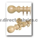 28mm County Wood Curtain Pole Set Light Ash