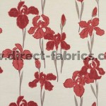 Amelia 400 Red Fire Resistant roman blinds