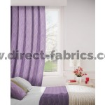 Austen 647 Mulberry Tan Curtains Room Shot Mock up