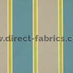 +Capital Stripe 289 Teal Latte Fire Resistant Curtains