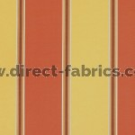 +Capital Stripe 426 Terracotta Gold Fire Resistant Curtains