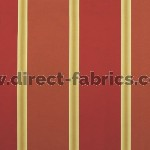 +Capital Stripe 445 Henna Crimson Fire Resistant Curtains