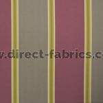 +Capital Stripe 673 Mulberry Mink Fire Resistant Curtains
