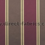 Capital Stripe 457 Raspberry Chocolate Fire Resistant roman blinds