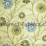 Carnival 237 Lime Flax Fire Resistant roman blinds