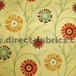 Carnival 348 Gold Henna Fire Resistant Fabric