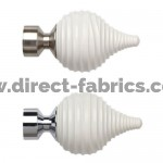 Cream swirl Finial