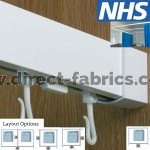 Cubicle Curtain Track - Hospital - NHS Approved