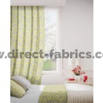 Daisy 237 Lime Flax Curtains Room Shot Mock up