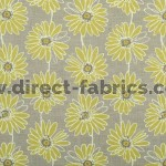 Daisy 237 Lime Flax Curtains