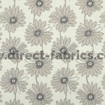 Daisy 852 Beige Cream Fire Resistant Fabric