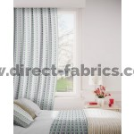 DF Walsall Teal Flame Retardant Curtains