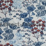 Flourish 150 Blue Grey Fire Resistant Fabric