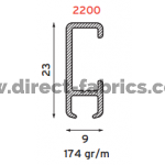 Goelst 2200 Curtain Track Profile diagram
