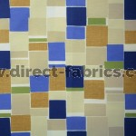 Jitterbug 130 Blue Gold Curtains