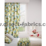 Jitterbug 237 Lime Flax Curtains Room Shot Mock up