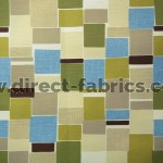 Jitterbug 237 Lime Flax Fire Resistant roman blinds