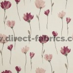 Juliet 688 Rose Linen Fire Resistant roman blinds