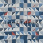 Kinetic 150 Blue Grey Fire Resistant roman blinds