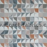 Kinetic 845 Stone Paprika Fire Resistant Fabric
