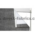 Roman Blind Kit with fabric peeled back