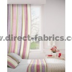 Midsummer 663 Mauve Lime Curtains Room Shot Mock up