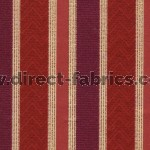 +Nobel Stripe 615 Berry Fire Resistant Curtains