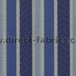 Nobel Stripe 100 Blue Fire Resistant Fabric