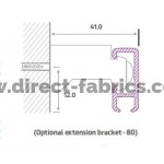 Optional extension Bracket 5600 Curtain Track
