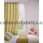 Parnell in Ochre Flame Retardant Curtain