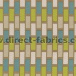 Plaza 289 Teal Latte Fire Resistant Fabric