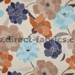 Poetry 109 Sky Indigo Fire Resistant Fabric