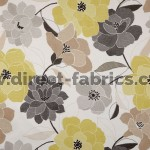Poetry 391 Lemon Silver Fire Resistant Fabric