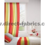 Sierra 420 Red Green Curtains Room Shot Mock up