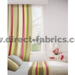 Sierra 682 Fuchsia Beige Curtains Room Shot Mock up