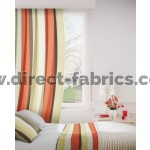 Sierra 842 Beige Orange Curtains Room Shot Mock up
